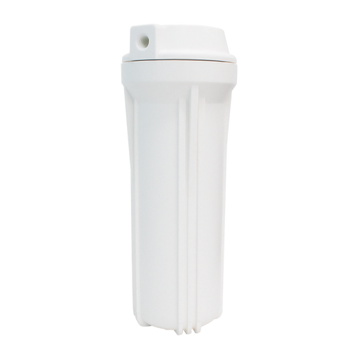 "BetterAqua Filter Housing 10"" X 2.5"" Connection Port 1/4"" FNPT White, BA-FH1025-WHT14"