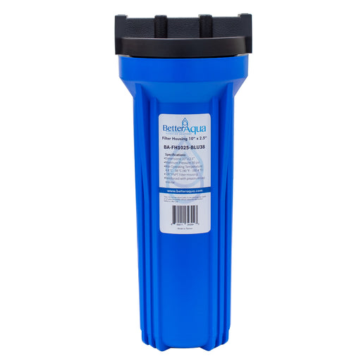 "BetterAqua Filter Housing 10"" x 2.5""  Home Filter Housing, BA-FH1025-BLU38"
