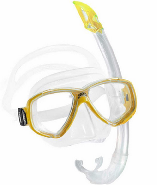 Cressi Perla Mare Mask & Snorkel Set Yellow