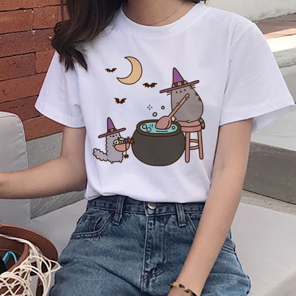 Kawaii Pusheen Cat T Shirts