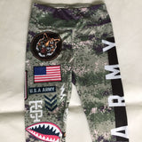 Ladies Army Green Pushup Leggings