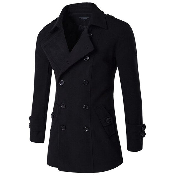 2019 Solid mens overcoat