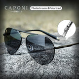 CAPONI Pilot Men's Sunglasses Polarized, UV400
