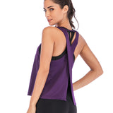 Zhangyunuo Fitness Solid Sleeveless Gym Top
