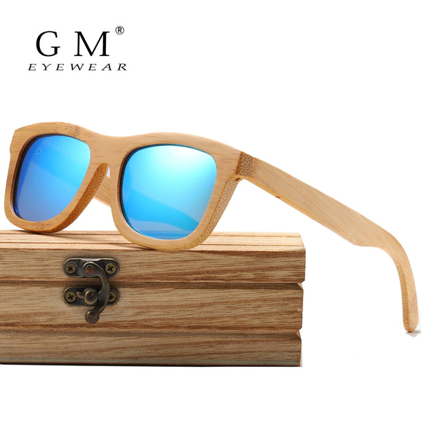 GM Polarized Wooden Sunglasses Handmade UV400