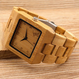 BOBO BIRD L-L22  Square Bamboo Wooden Watch