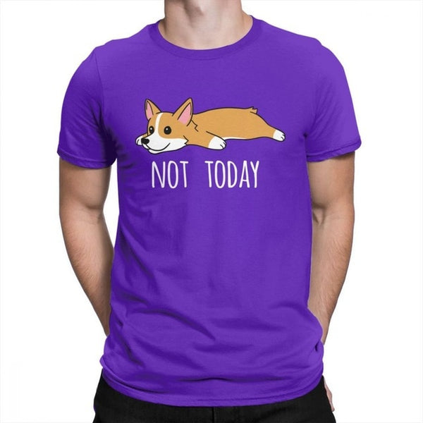 Funny Not Today Corgi Dog Creative T Shirts