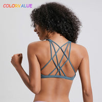 Colorvalue Sexy Cross Straps Gym Sports Bra