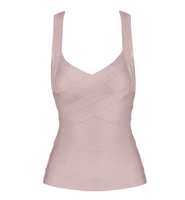 Elastic Bandage Top Stretch V-Neck