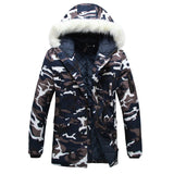 Camouflage Down Parkas Jacket