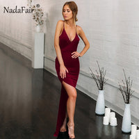 Deep V-Neck Sexy Party Maxi Dress