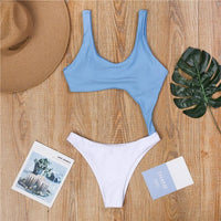 Peachtan Hollow out one piece swimsuit