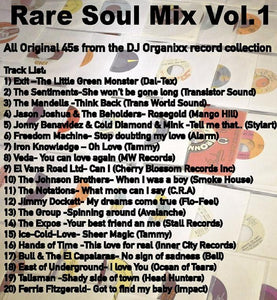 "Free rare sweet soul mix ""All Rare Soul 45s"" (Mixed by DJ ORGANIXX) *Add to cart"