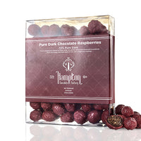 Pure Dark Chocolate Raspberries