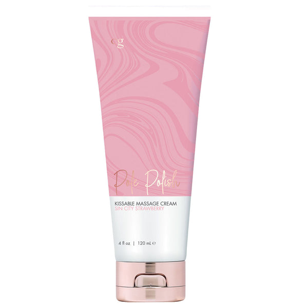 Pole Polish Kissable Massage Cream Cin Sity Strawberry 4 Fl Oz.