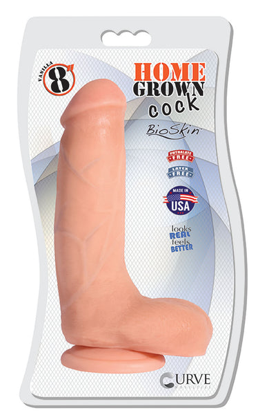 "8"" Home Grown Cock - Vanilla"