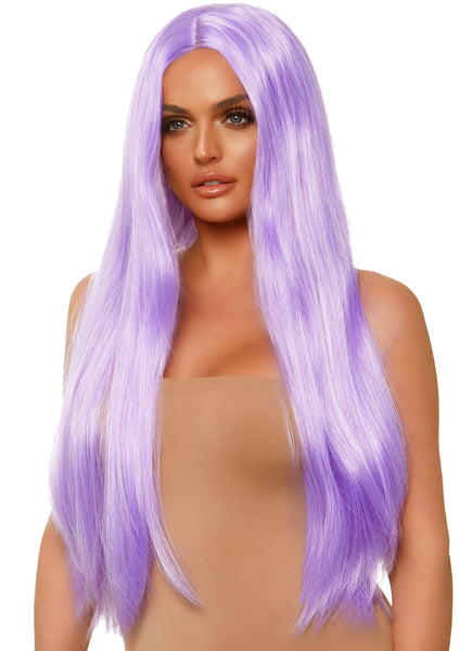 Long Straight Wig 33 Inch - Lavender