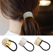 Load image into Gallery viewer, M MISM Hairband Pearl Women Hair Accessories Scrunchy Punk Ponytail Holder Plastic Crystal Gum for Hair Ring Elastic Hair Band