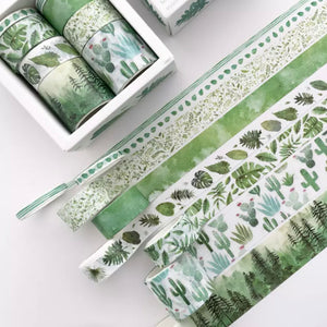 Succulents & Foliage Wash Tape