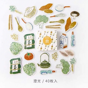 Ka Fei Food Themed Sticker Box - 40pcs