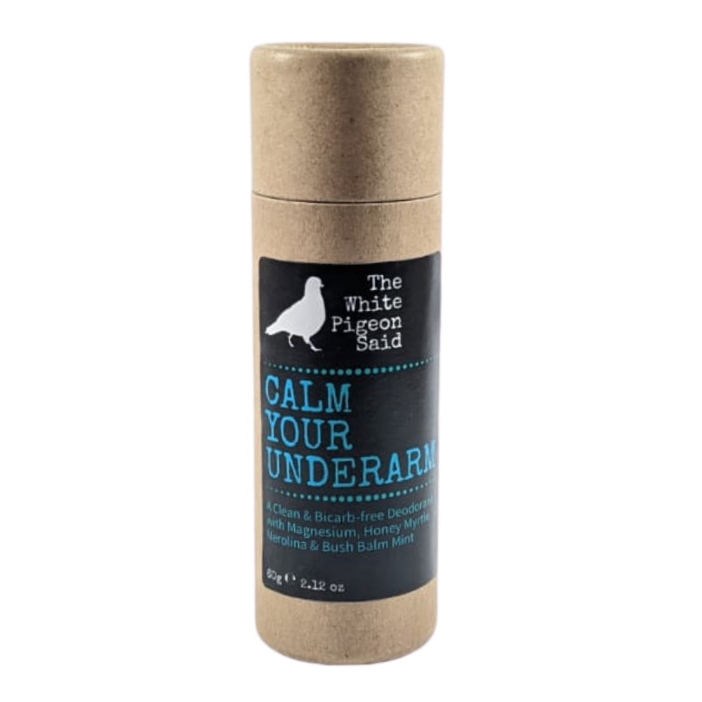 Natural deodorant balm in a push-up biodegradable cardboard tube