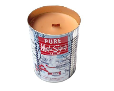 Maple Candle with Crackling Wood Wick