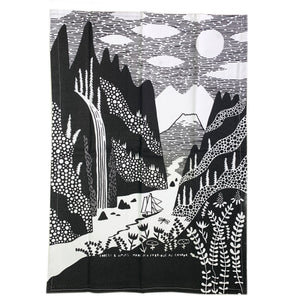 Lock & Fjord Linen Tea Towel - Forest and Waves