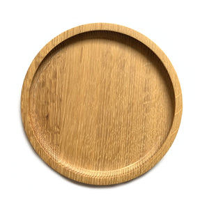 Made in Canada oak all purpose serving plate, large size.