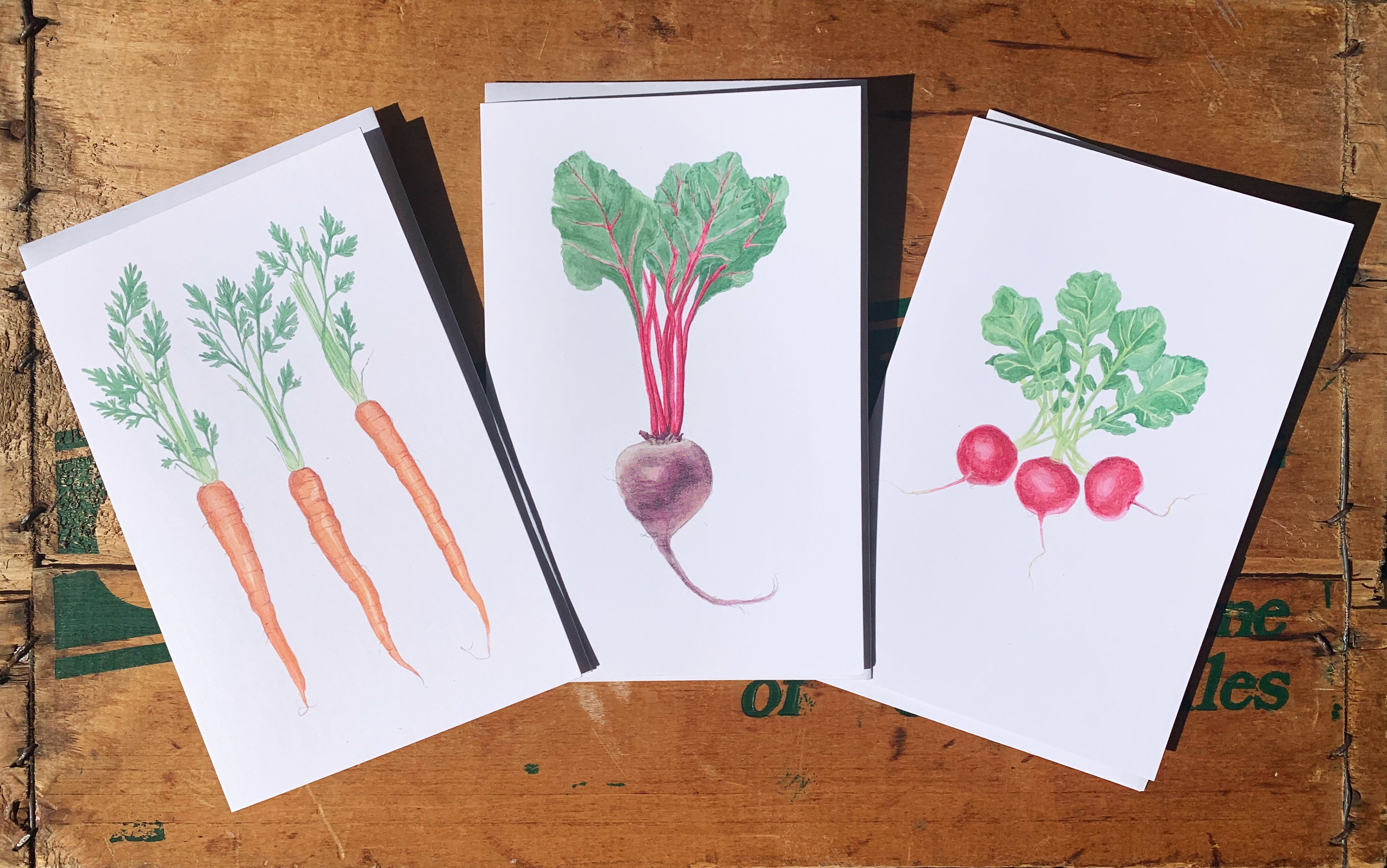 """Carrots"" 5x7 Framable Art Card - Alli Boddy"