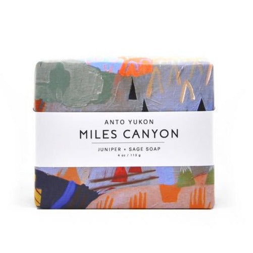Made in Canada Natural Miles Canyon Soap by Anto Yukon with artwork wrapper by Meghan Hildebrand. The perfect unique Canadian made gift!