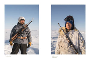 Canadian made magazine Beside flipped to photographs of Inuit hunters.