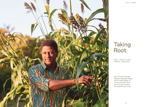 Photograph of a corn farmer from Canadian made magazine Beside.