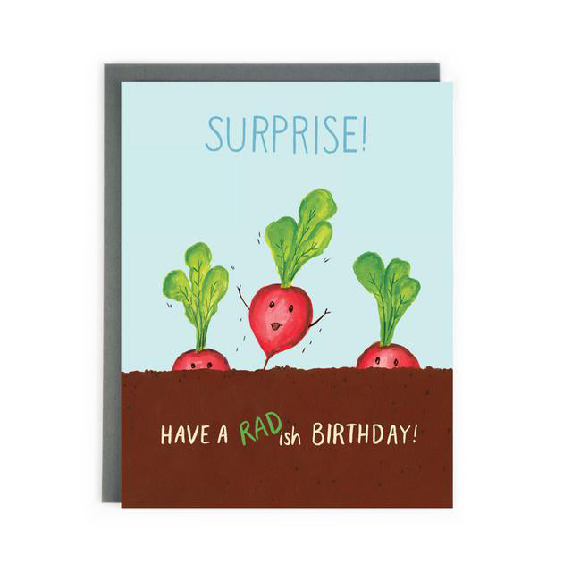 """Radish Birthday"" Birthday Card - Made in BV"
