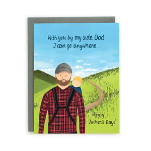 """Hiking"" Father's Day Card - Made in BV"