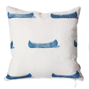 Organic Cotton Blue Canoe Pillow - Cottage Cloth