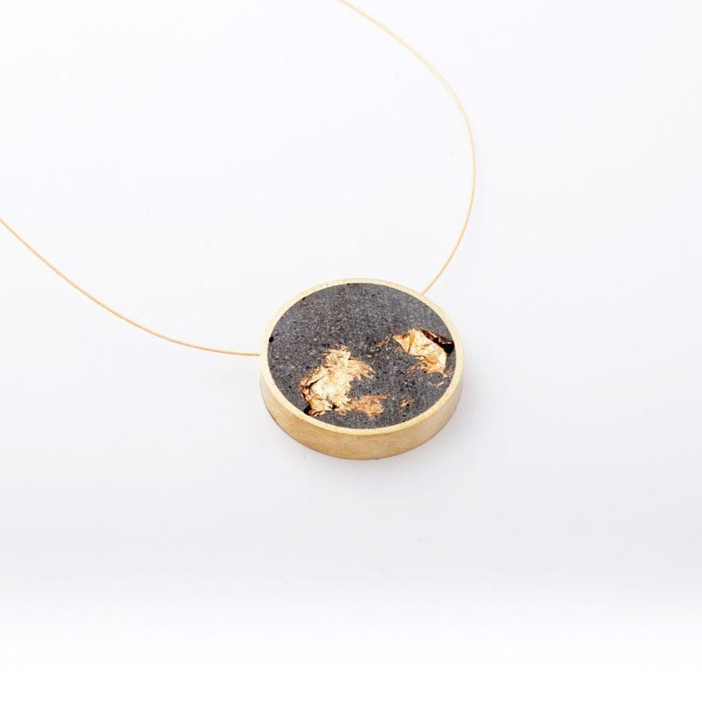 Concrete Gold Necklace - Dconstruct