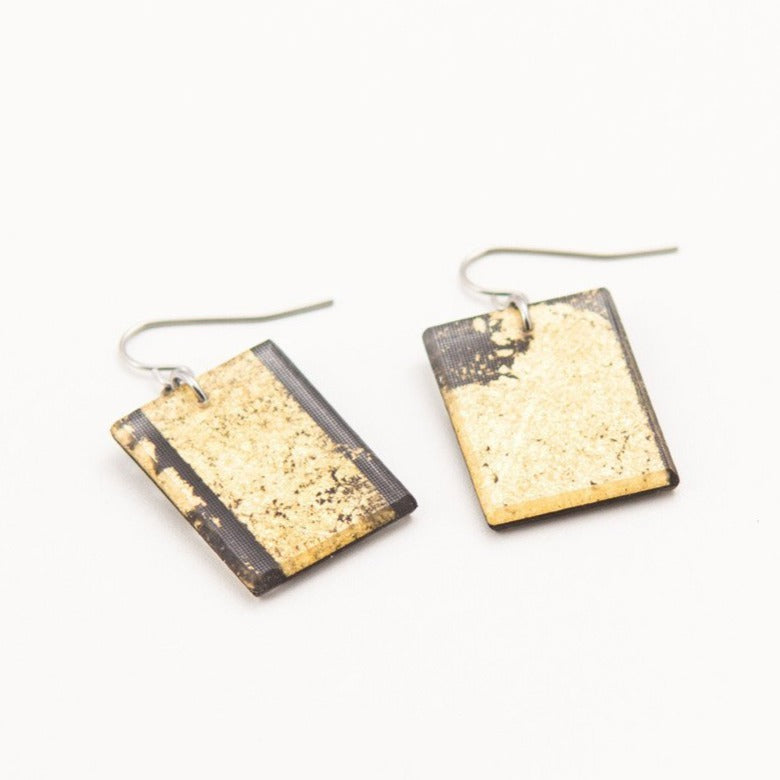 Ecoresin Gild Gold Earrings - Dconstruct