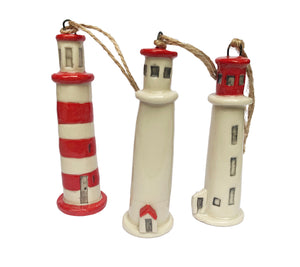 Sambro Island Lighthouse Ornament - Eastwood Pottery