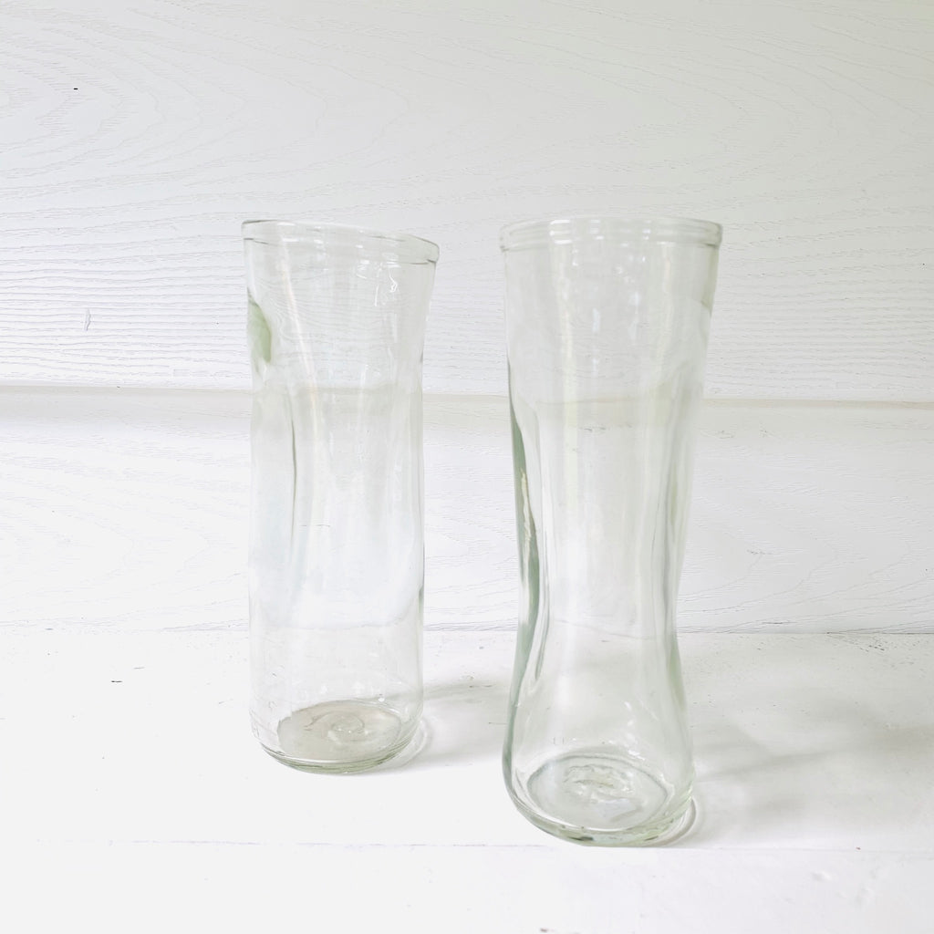 Made in Canada tall recycled glass drinking cup
