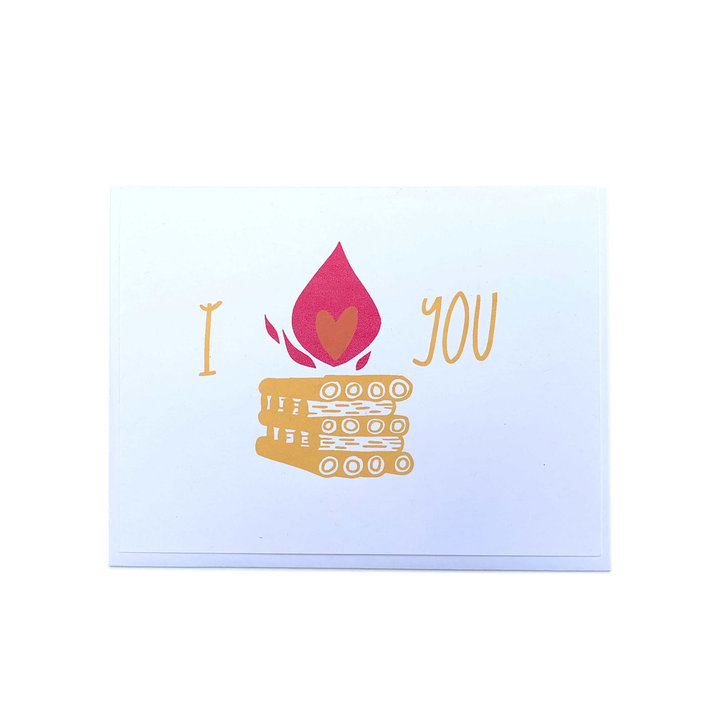 """Campfire"" Love & Friendship Card - Forest and Waves"