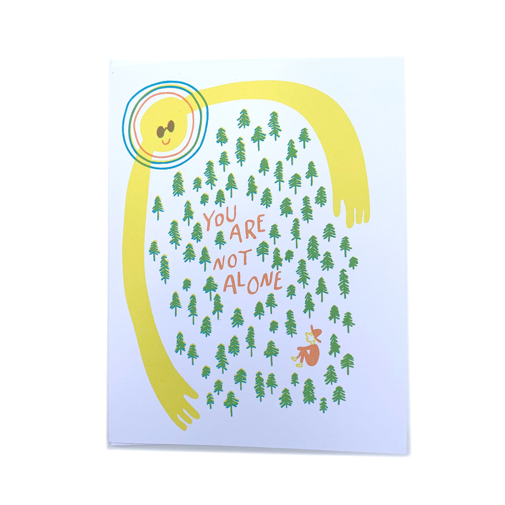 """Sunshine"" Encouragement Card - Forest and Waves"