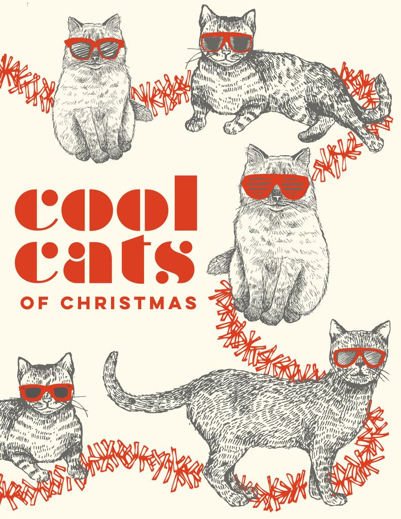 """Cool Cats"" Holiday Card - The Good Days Print Co."