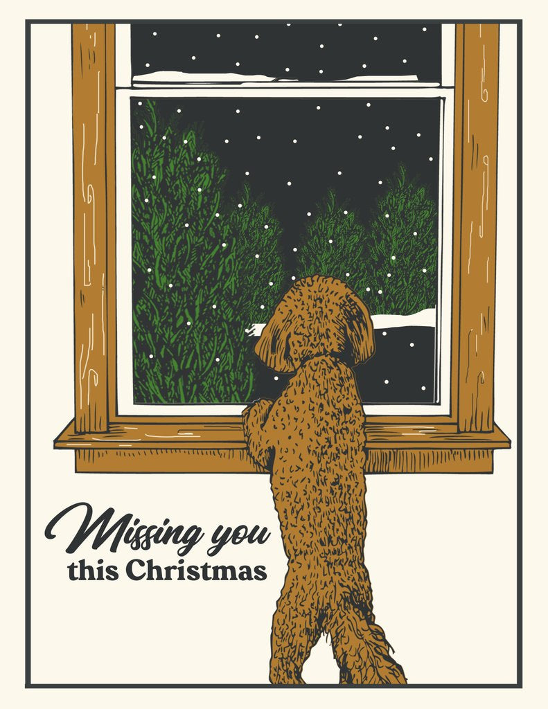 """Miss You"" Holiday Card - The Good Days Print Co."