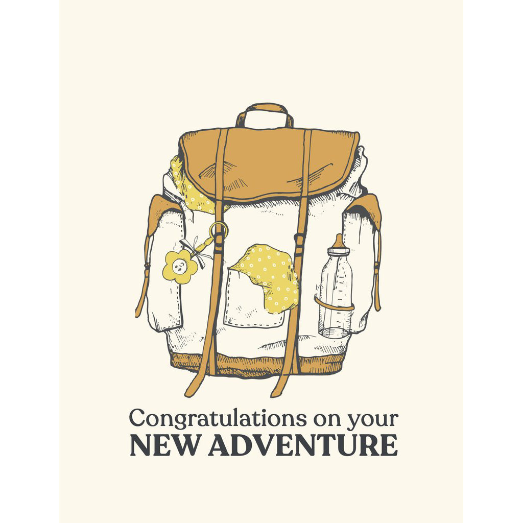 """New Adventure"" New Baby Card - The Good Days Print Co."
