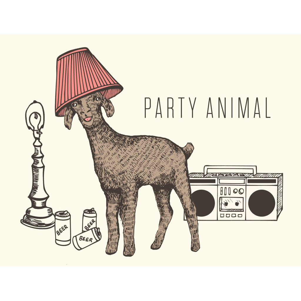 """Party Animal"" Birthday Card - The Good Days Print Co."