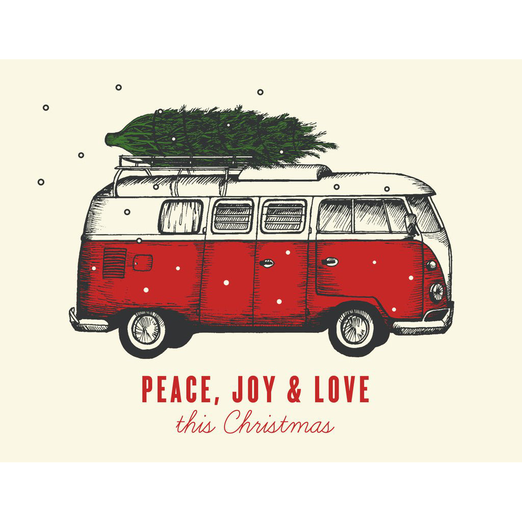 """Peace, Love, Joy"" Holiday Card - The Good Days Print Co."