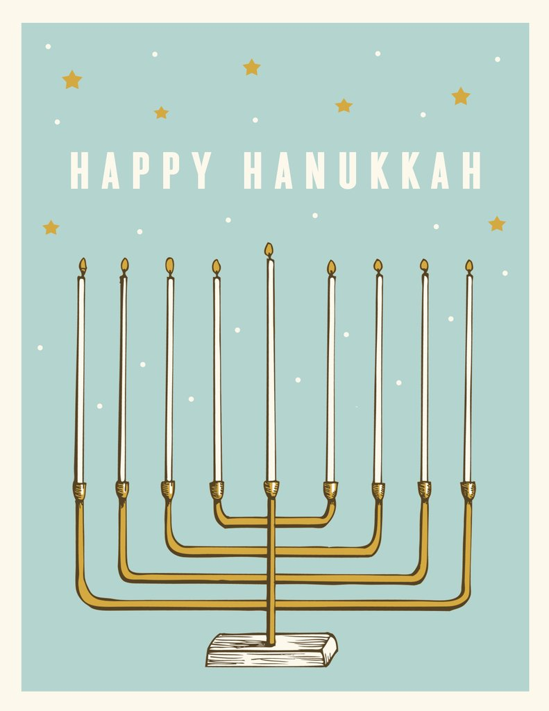 Hanukkah Holiday Card - The Good Days Print Co.