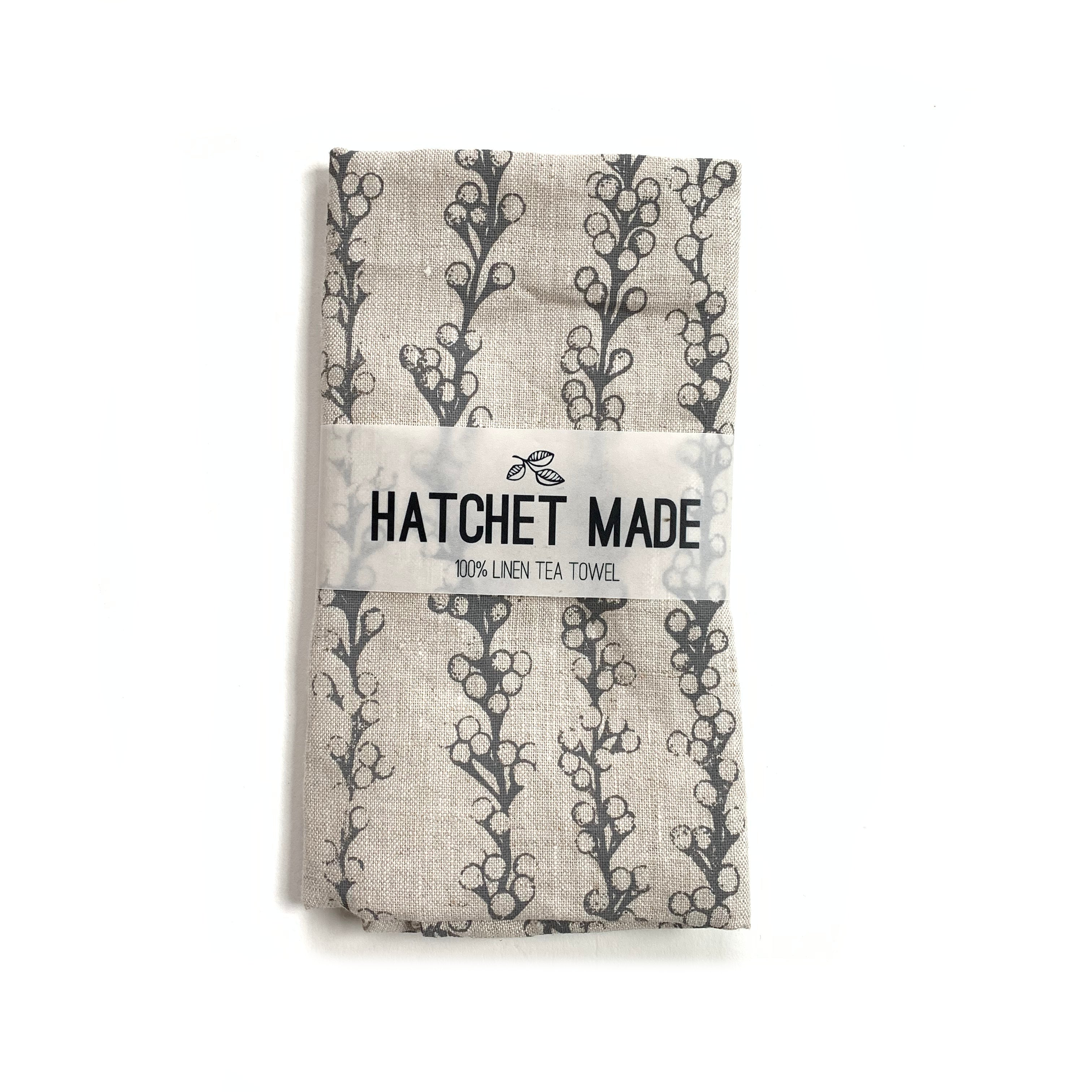 Linen Tea Towel - Sea Grapes - Hatchet Made