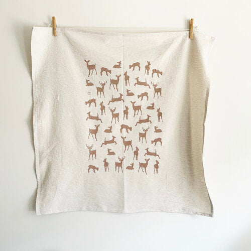 Organic Cotton Deer Tea Towel - Havyn