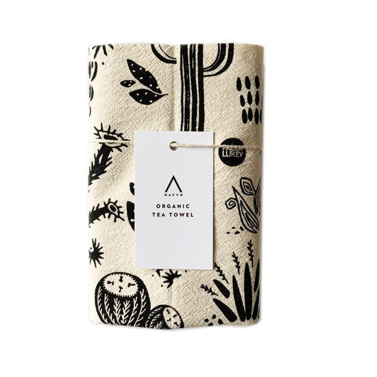 Organic Cotton Desert Cacti Tea Towel - Havyn